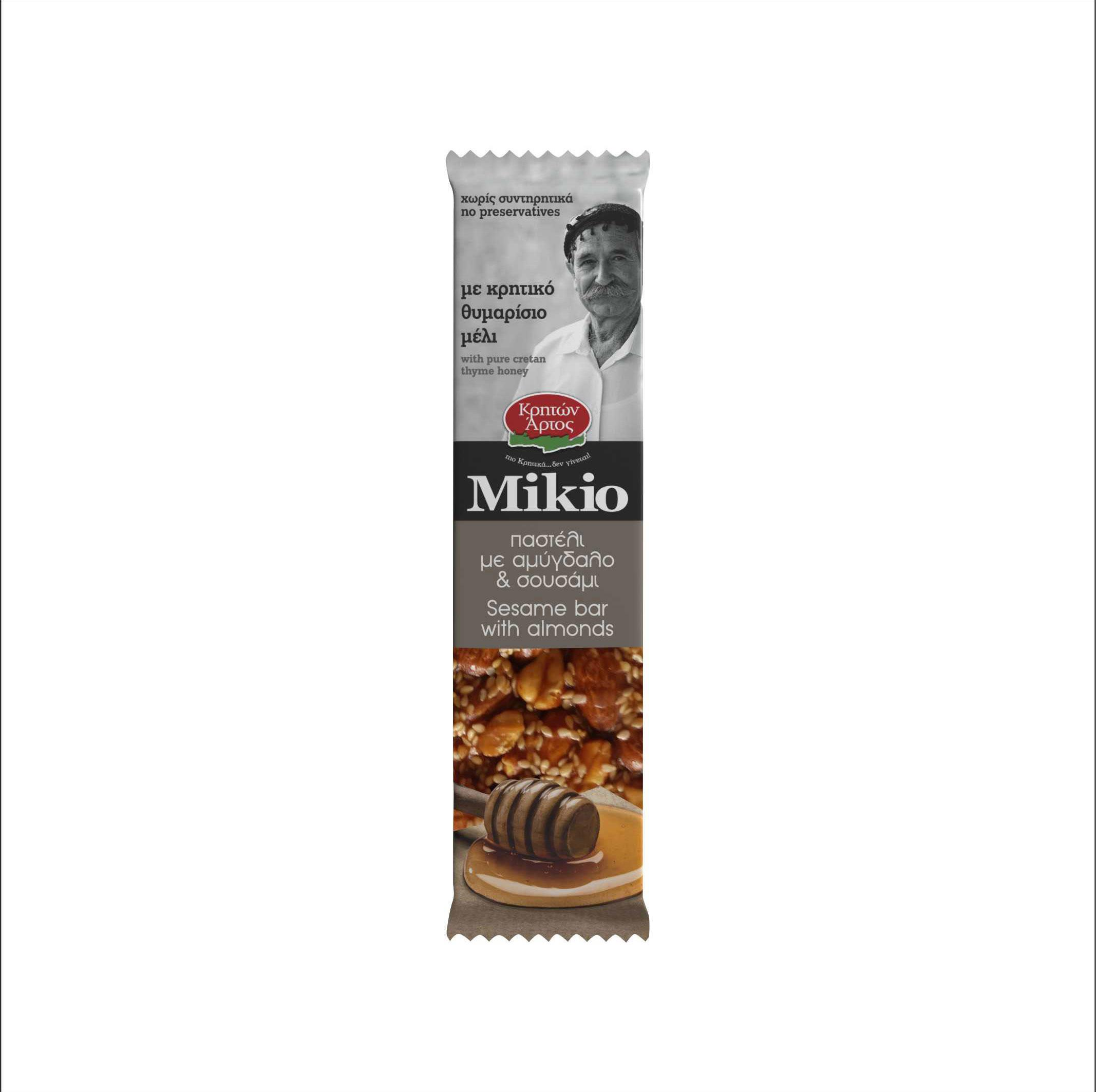 MIKIO SESAME BAR WITH ALMOND AND CRETAN HONEY 60 gr